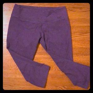 Nike Purple Dri-Fit Capris - Size Med